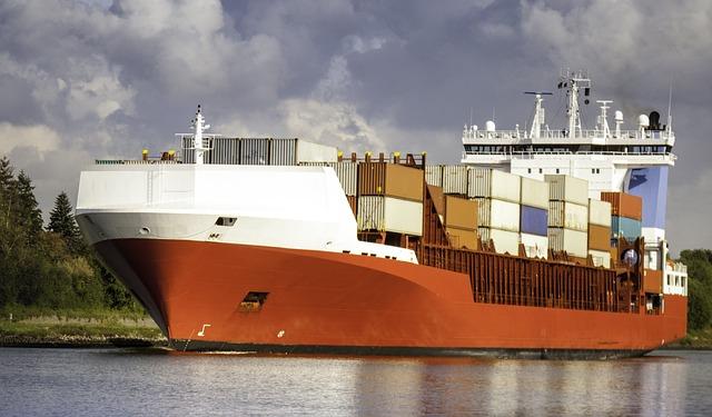 Ship, Freighter, Container, Container Ship, Cargo, Nok