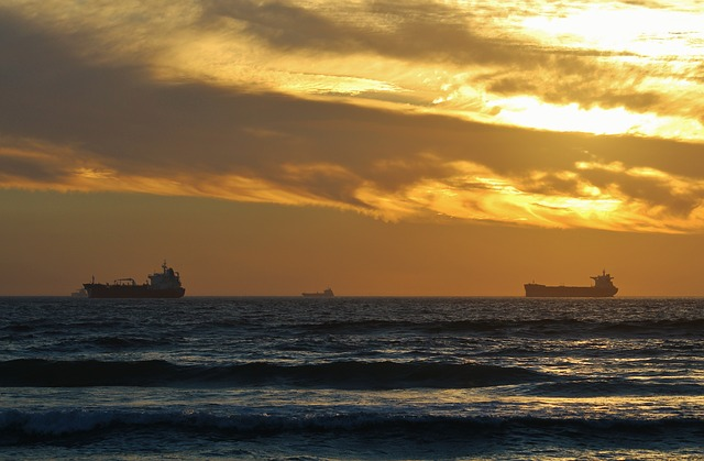 Cargo Ships, Freighter, Container Ship, Evening Sky