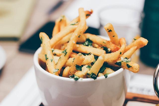 Bowl, Food, French Fries, Fries, Macro, Potato Fries