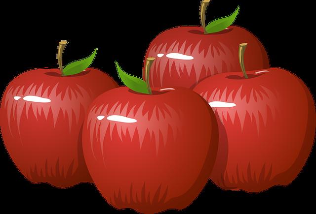 Apples, Fruit, Food, Healthy, Organic, Fresh, Ripe, Red