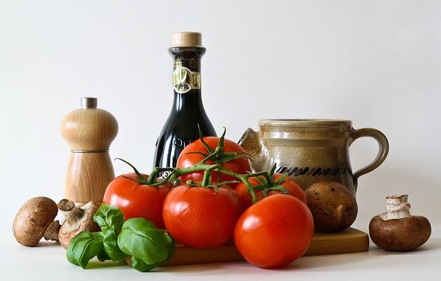 Tomatoes, Basil, Mushrooms, Fresh Tomatoes, Fresh Basil