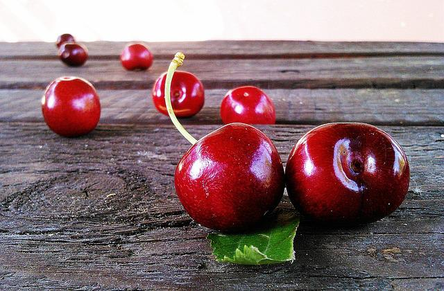 Cherries, Fruit, Red, Sweet, Cherry, Fresh, Organic