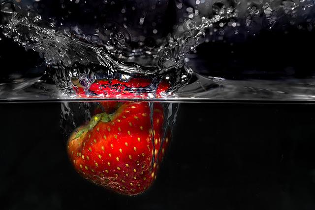 Strawberry, Plunge, Fresh, Nutrition, Food, Diet, Fruit