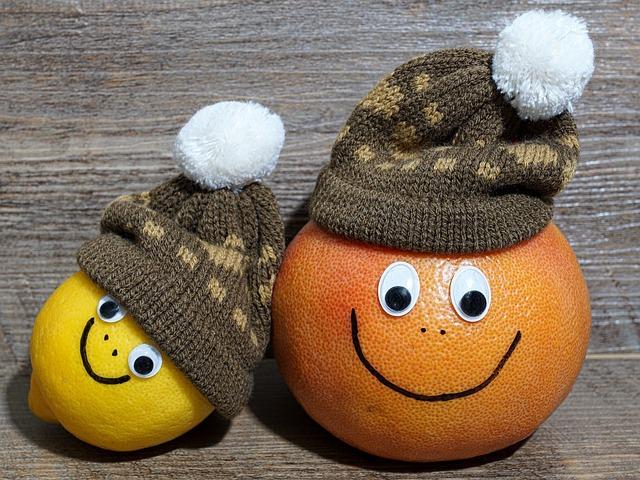 Fruit, Lemon, Grapefruit, Faces, Cheerful, Fresh Fruit