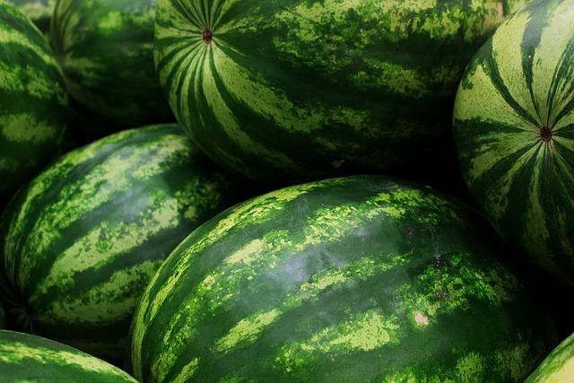 Watermelons, Fruits, Green, Healthy, Food, Fresh