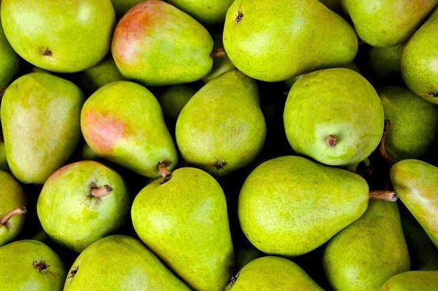Fruits, Pears, Green, Fresh, Ripe, Harvest, Produce