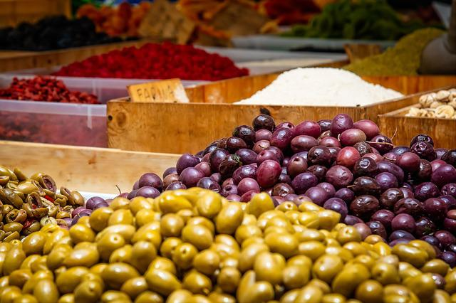 Olives, Fruits, Mediterranean, Fresh Olives, Oelfrucht