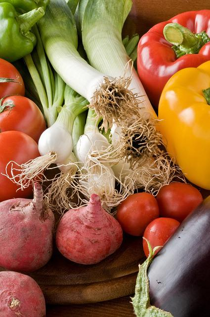 Vegetables, Eggplants, Food, Freshness, Garlic Leek