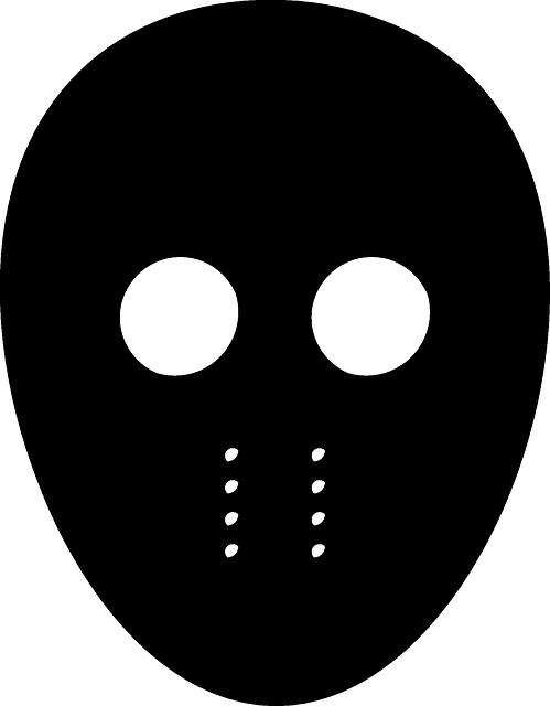 Jason Mask, Friday, 13th, Mask, Black