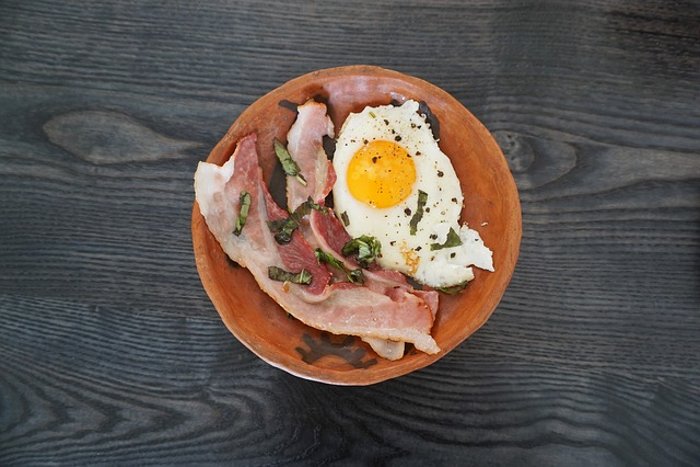 Breakfast, Eggs, Bacon, Plate, Food, Meal, Fried, Table
