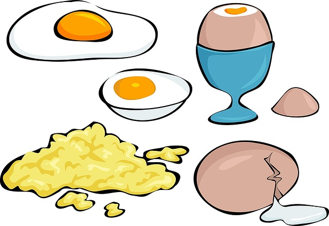 Eggs, Variety, Boiled Egg, Fried Egg, Scrambled Egg