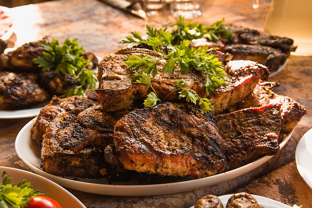 Meat, Food, Bbq, Fried Meat, Shish Kebab, Grill, Plate