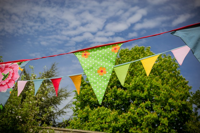 Bunting, Flags, Celebration, Decoration, Frill