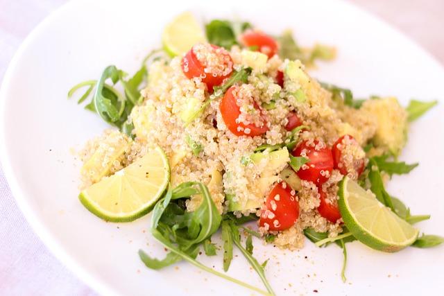 Quinoa, Salad, Tomatoes, Lime, Rocket, Frisch, Fruity