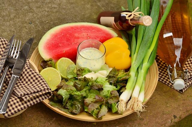 Spring Onions, Leek, Salad, Frisch, Healthy, Vitamins