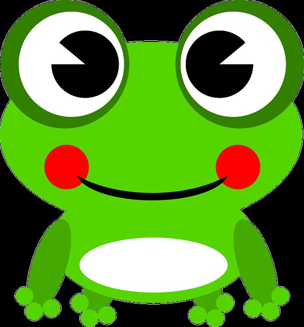Frog, Amphibian, Animal, Green, Happy, Smiling