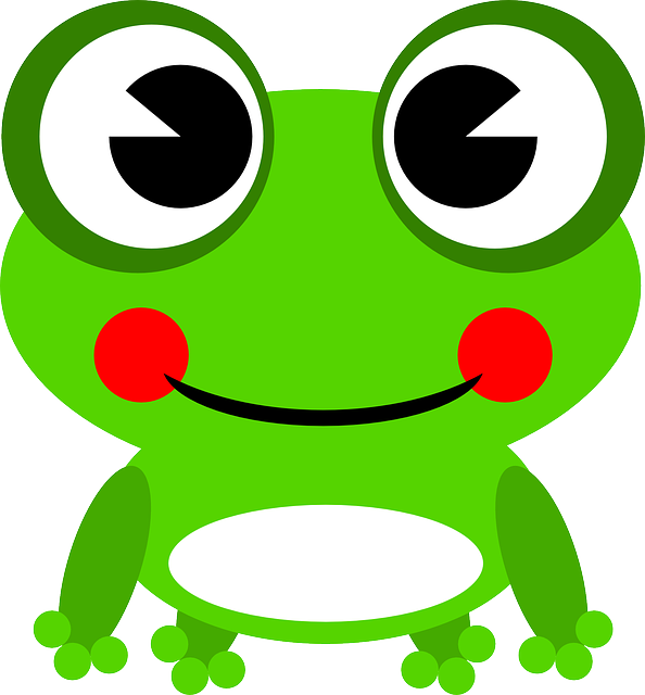 Frog, Amphibian, Animal, Green, Happy, Smiling