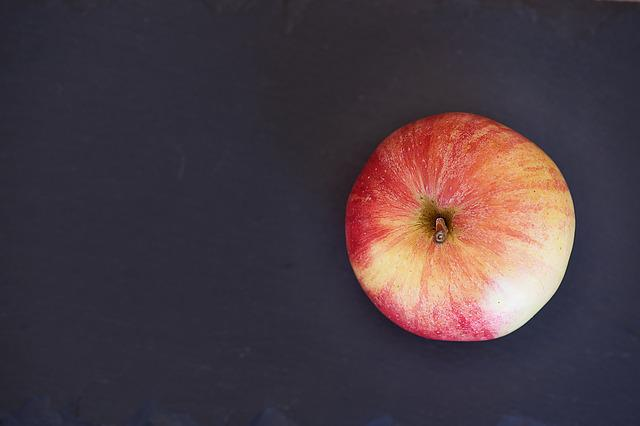 Apple, From Above, Fruit, Healthy, Vitamins, Minerals