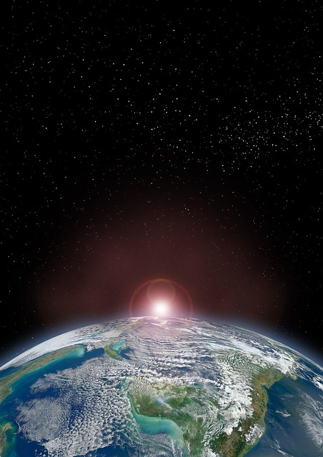 Earth, Horizon Land, From Space, Climate Change