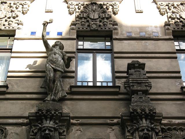 Latvia, Riga, From The Bottom, The Façade Of The