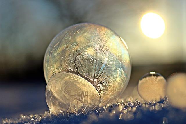 Eiskristalle, Soap Bubble, Frost Globe, Frost Blister