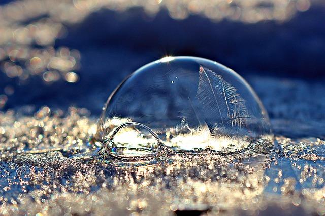 Frozen Bubble, Soap Bubble, Ice-bag, Frost Blister