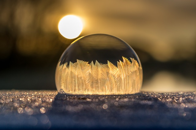Winter, Soap Bubble, Frozen, Frost, Frozen Bubble