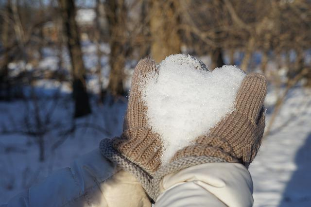 Winter, Snow, Cold, Nature, Frost Heart, Valentines