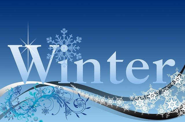 Winter, Wintertime, Lettering, Cold, Frost, Ice