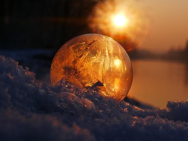 Soap Bubble, Frozen, Frost, Winter, Eiskristalle