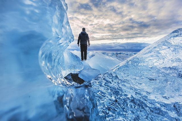 Adventure, Cold, Frozen, Glacier, Ice, Man, Outdoors