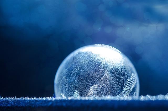 Soap Bubble, Frozen, Ice, Winter, Frozen Bubble