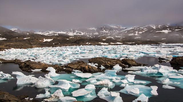 Drift Ice, Frozen, Mountain, Sea, Wilderness, Ice