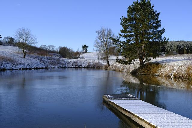 Winter, Snow, Lake, Ice, Frozen, Waters, Reflection