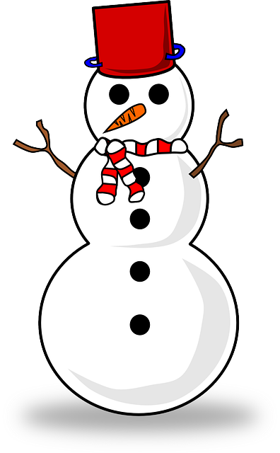 Snow, Snowman, Winter, Cold, Hat, Red, White, Frozen