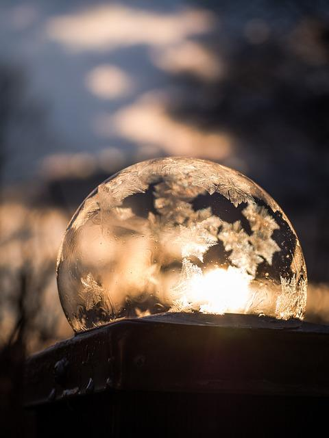 Frozen, Soap Bubble, Frozen Bubble, Winter, Cold
