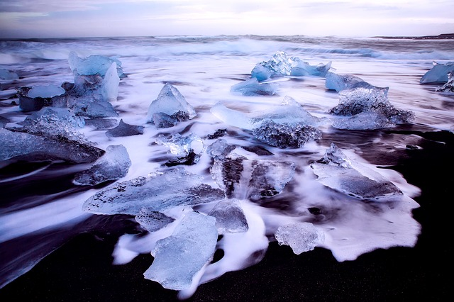 Iceland, Ice, Frozen, Sea, Ocean, Water, Foam, Cold