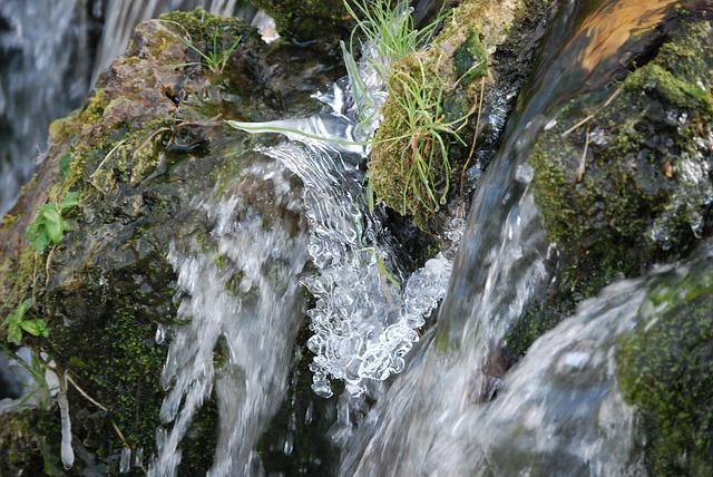 Ice, Water, Winter, Cascade, Gel, Frozen Water