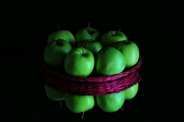 Apples, Basket, Fruit, Tray, Food, Apple