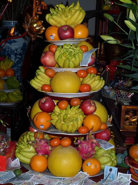 Vietnam, Asia, Hanoi, Temple, Fruit, Banana, Mandarin
