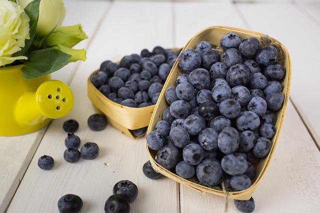 Basket, Berry, Food, Fruit, Fresh, Blue, Juicy