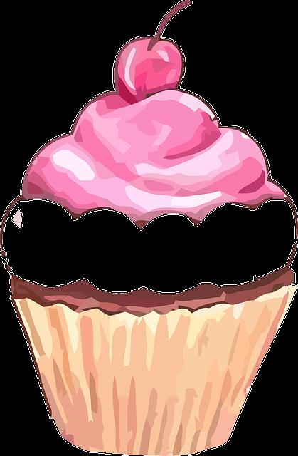 Cupcake, Muffin, Sweet, Cherry, Fruit, Cake, Birthday