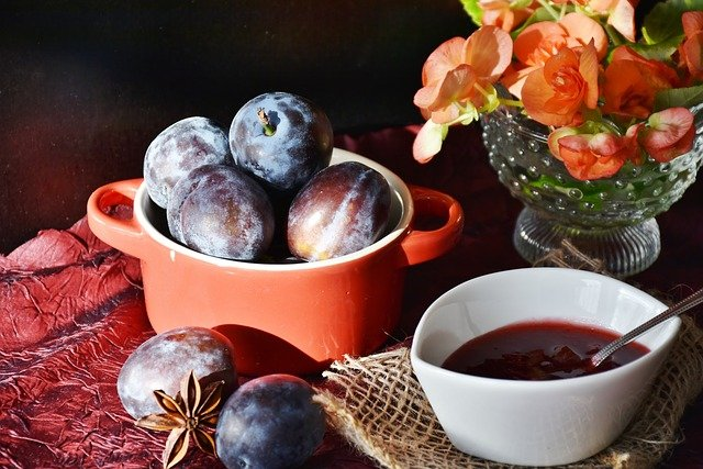 Plums, Fruit, Jam, Violet, Sweet, Purple By, Eat, Cook