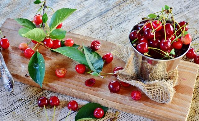 Sour Cherries, Cherries, Fruit, Red, Fruits, Fruit Tree