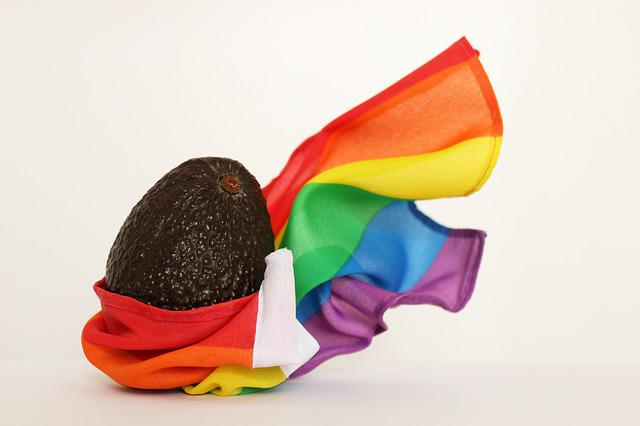 Gay, Fruit, Rainbow Flag, Avocado, Lgbt, Lgbtq, Rainbow