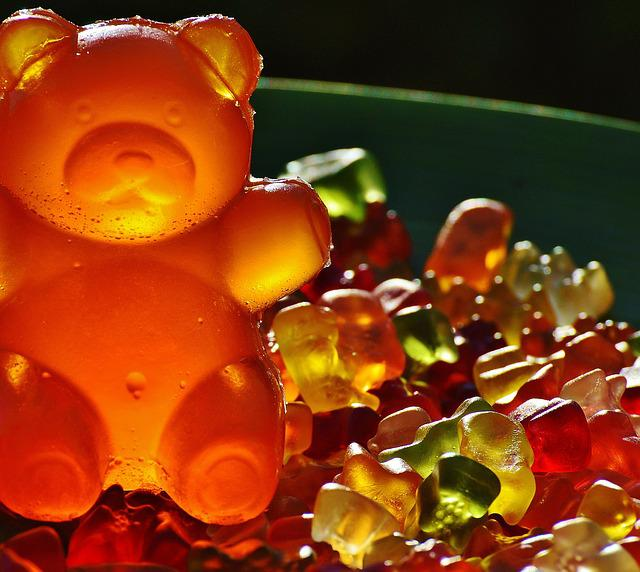 Gummibärchen, Giant Rubber Bear, Gummibär, Fruit Gums