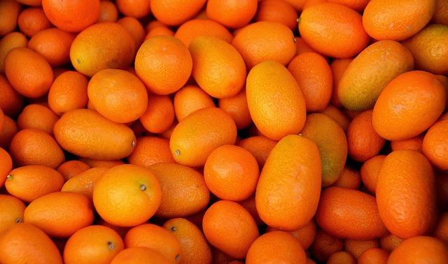 Fruit, Orange, Kumquat, Left Untreated, Market