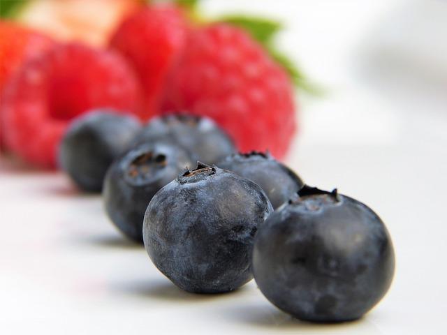 Blueberries, Raspberries, Strawberries, Fruit, Fruits