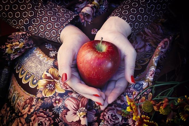 Apple, Palm, Hands, Red Apple, Ripe, Fruit, Harvest