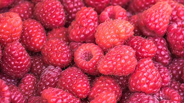 Raspberries, Berries, Ripe, Vitamins, Fruit, Food
